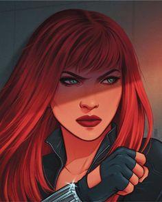 Black Widow (Art by Mahmud Asrar) Rogue Comics, Marvel Dc Comics, Marvel Heroes, Marvel Women, Marvel Girls, Comics Girls, Venom Avengers, Avengers Team, Black Widow Scarlett