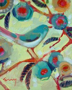 Bella Bella Vita: Artist Spotlight - Bird Paintings By Erin Fitzhugh Gregory Art And Illustration, Illustrations, Art Plastique, Bird Art, Painting Inspiration, Pet Birds, Painting & Drawing, Folk Art, Art Projects