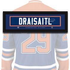 Edmonton Oilers - Leon Draisaitl - NHL Jersey Name Print