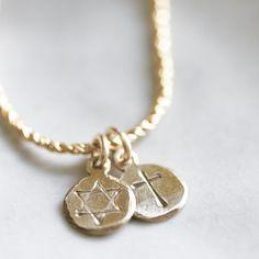 Star of David & Cross Pendant Necklace