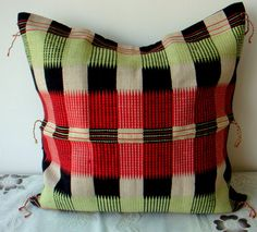 pretty traditional handwoven cushion