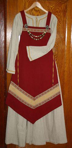 Red Viking apron dress by ~Laerad on deviantART