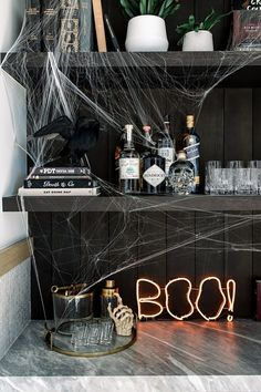 11 Fun Ideas for Celebrating Valentine's Day With Your Pals – 5 Easy Ways to Add Spooky Vibes to Your House for Halloween - Camille Styles Spooky Halloween, Halloween Home Decor, Halloween Season, Holidays Halloween, Halloween Crafts, Halloween Decorations, Halloween Party, Halloween Bedroom, Victorian Halloween
