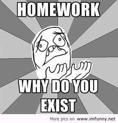 Homework why do you exist?