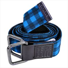 Fenchurch Mens League Checkered Belt One Size Blue