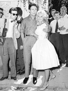 Brigitte Bardot, wore a pink gingham dress on her wedding day in 1959