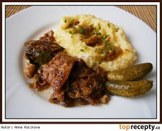Moravský vrabec rychle a chutně, zase jinak Czech Recipes, Russian Recipes, Ethnic Recipes, Mashed Potatoes, Food And Drink, Beef, Polish, Decor, Pork