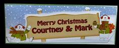 Large DL Merry Christmas COURTNEY & MARK 3D decoupage - Photo by Allen Bowen