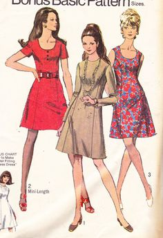 CLEARANCE Simplicity 8884  Womens Mod  ALine by Sutlerssundries, $7.99