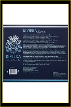 English Laundry Riviera 3 Piece Gift Set Blue Yellow, Shampoo, Fragrance, Alcohol, Gifts, Eau De Toilette, Rubbing Alcohol, Liquor, Favors