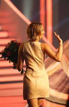 Jennifer Lawrence attends the TV show 'Wetten, dass..' on November 8th, 2014
