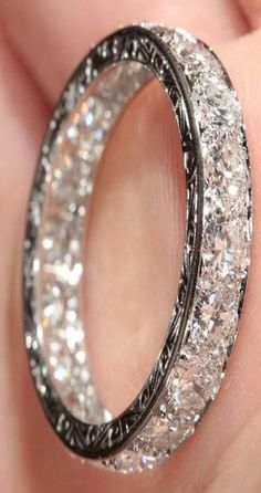 diamond encrusted-wedding band..not engagement ring ring