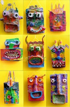 childrens workshops 059 – Best DIY images in 2019 Projects For Kids, Art Projects, Crafts For Kids, Arts And Crafts, Sculpture Projects, Sculpture Art, Mascara Papel Mache, Childrens Workshop, Paperclay