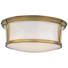 """Newport 15"""" Wide Aged Brass Ceiling Light    Style # F3388"""