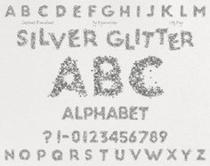 "Silver Alphabet #Clipart Clip Art: ""Silver Glitter Alphabet"" digital silver alphabet, silver font, glitter letters, glitter font  This silver clip art contains 40 different ... #etsy #digiworkshop #scrapbooking #illustration #creative #clipart #printables #cardmaking"