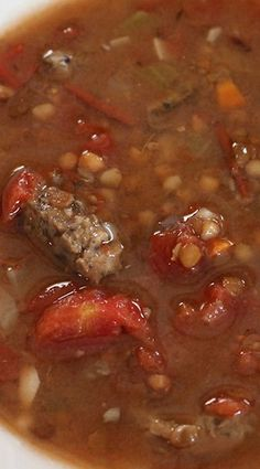 Sausage & Lentils Soup (Electric Pressure Cooker)