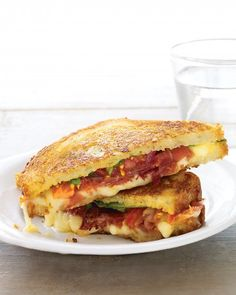 Gruyere, Prosciutto, Arugula, and Tomato Grilled Cheese
