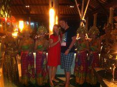 Renee and I in the centre of the Legong dancers, Hotel Padma Legian. Legian, Bali, Indonesia. 12 June 2012.