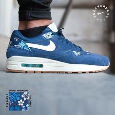 lowest price d4c74 c5890  nike  Airmax1  blue  aloha  print  premium  sneakerbaas  baasbovenbaas