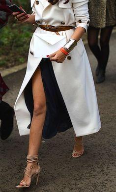 #fall #fashion / white trench coat