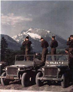 As the war wound down in 1945, men of the 101st Airborne had time for snapshots and class A uniforms.
