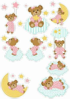 70 Super Ideas For Baby Cards Diy Embellishments Clipart Baby, Printable Stickers, Planner Stickers, Baby Decor, Baby Shower Decorations, Dibujos Baby Shower, Moldes Para Baby Shower, Scrapbook Paper, Scrapbooking