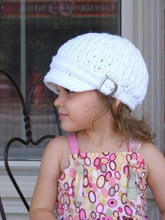Toddler girl newsboy cap 32 colors chunky crochet newsboy hat baby girl's women's sizes silver metal buckle for fall autumn winter white Crochet Newsboy Hat, Crochet Baby Hats, Baby Girl Hats, Girl With Hat, Knitted Hats Kids, Knit Hats, Girl Photo Shoots, News Boy Hat, Chunky Crochet