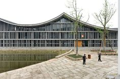 Image 1 of 26 from gallery of New Academy of Art in Hangzhou / Wang Shu, Amateur Architecture Studio. Ancient Chinese Architecture, University Architecture, China Architecture, School Architecture, Interior Architecture, Public Architecture, Futuristic Architecture, Interior Design, Hangzhou
