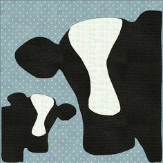 cow applique template