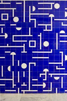 Detalhe Painel Azulejos Pal_cio Itamaraty Anexo I DGAP 8_ Andar Bras_lia Arq Oscar Niemeyer (Fot3