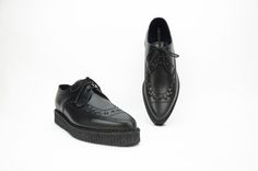 ae032f5a459 Barfly Creepers. Black Leather Creeper Shoes. Underground Creepers