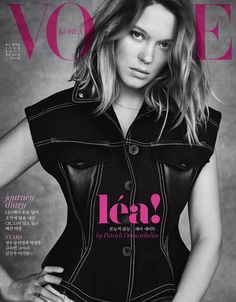 Léa Seydoux by Patrick Demarchelier for Vogue Korea June 2017 cover