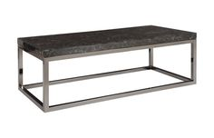 TH81371 / Captured Denim, Coffee Table Rectangle w/ Plated Black Nickel Base