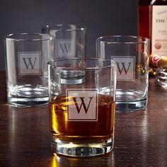 Home Wet Bar Eastham Personalized 10 oz. Rock Glass Monogram: R