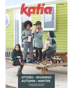 Jacket - Kids - Autumn / Winter - models & patterns | Katia.com Summer Kids, Spring Summer, Sewing Patterns, Crochet Patterns, Bleu Pastel, Fall Winter, Autumn, Yarn Brands, Winter Springs