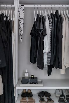 My Minimal Closet in 2020 Minimal Wardrobe, My Wardrobe, Capsule Wardrobe, Wardrobe Rack, Closet Tour, Monochrome Outfit, French Chic, Classic Chic, Packing Light