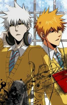 Shiro looks so cool in a school uniform :3