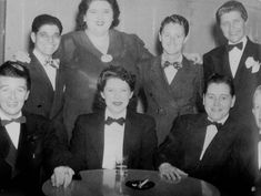 1945, Male impersonators posing at Mona's, via Wide Open Town History Project Records Courtesy of the Gay, Lesbian, Bisexual, Transgender Historical Society.