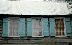 Unique color called haint blue - from South Carolina and so called by former African descended slaves who thought it brought good luck