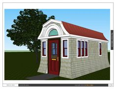 A new tiny house design from Tiny Green Cabins. This tiny house would be perfect for a back yard cottage to be used as a guest cottage, artist studio, hobby room or play room for the kiddos. It is 8′ x 16′ with a ceiling height at the main floor of 7′. -Posted on February 19, 2014 by Jim	 in Tiny Cabins