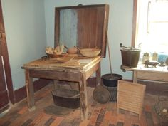 primitive kitchen area , Is this a biscuit table?
