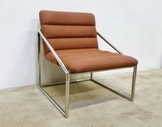 MCM Ward Bennett Brickel Associates Chrome Chair —