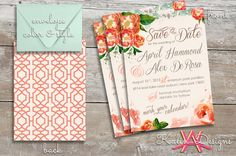 Custom Wedding Save the Date | Floral Design on Etsy, $60.00
