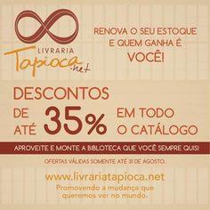 Livraria Tapioca com 35% desconto em todo catálogo !!! - Rede PSB