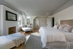 BEDROOM – Guest bedroom – Contemporary Gables Westport, CT - contemporary - bedroom - new york - Vicente Burin Architects