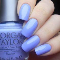 Pastel Nails using Morgan Taylor's Po-Riwinkle available at Louella Belle #Pastel #PastelNails #Nails #NailArt #Manicure #LouellaBelle