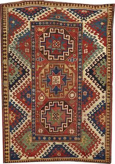 A Kazak rug Caucasus size approximately 5ft. 5in. x 7ft. 10in.