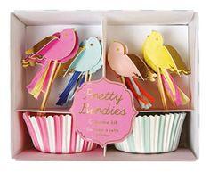Spring Birds Cupcake Kit Party Meri Meri Toppers Paper Cupcake Case