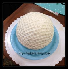 Biddle Bits: How to make a golf ball cake What about this for Kalen's cake?