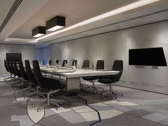 Le Méridien Istanbul Etiler—Boardroom  - screen integration into acoustical panel design